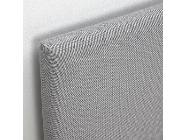 IKEA GLADSTAD Tapicerowana rama łóżka, Kabusa jasnoszary, 160x200 cm Tkanina Pojemnik na pościel Bez pojemnika Łóżko tapicerowane Zagłówek Z zagłówkiem