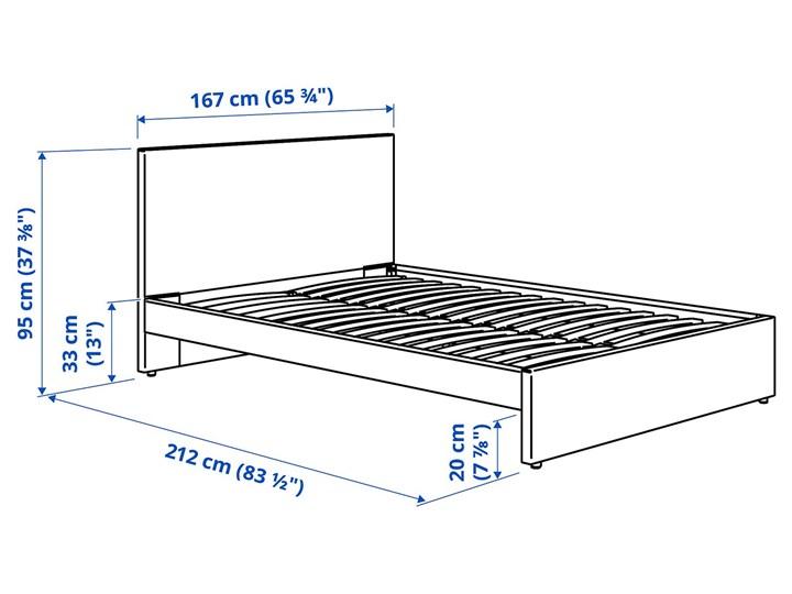 IKEA GLADSTAD Tapicerowana rama łóżka, Kabusa jasnoszary, 160x200 cm Tkanina Łóżko tapicerowane Styl Nowoczesny