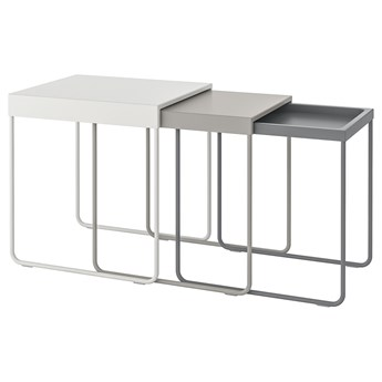 IKEA GRANBODA Stoliki, 3 szt, Wysokość 1: 50 cm