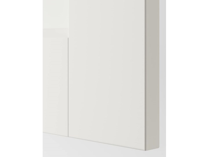 IKEA GRIMO Drzwi przesuwne, biały, 200x201 cm Rodzaj frontów Mat Stal Metal Lustro
