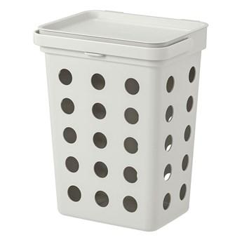 IKEA HÅLLBAR Kosz z pokrywą na odpady bio, jasnoszary, 10 l