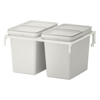 IKEA HÅLLBAR Rozwiązanie sortowania śmieci, Do szuflad kuchennych METOD/jasnoszary, 44 l