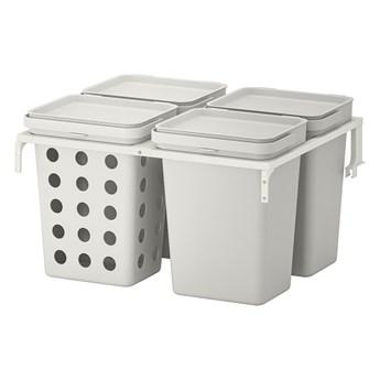 IKEA HÅLLBAR Rozwiązanie sortowania śmieci, Do szuflad kuchennych METOD wentylowane/jasnoszary, 40 l