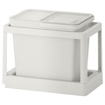 IKEA HÅLLBAR Rozwiązanie sortowania śmieci, Z wysuwaniem/jasnoszary, 22 l