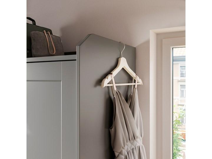 IKEA HAUGA Szafa z drzwiami przesuwanymi, Szary, 118x55x199 cm Płyta MDF Kategoria Szafy do garderoby