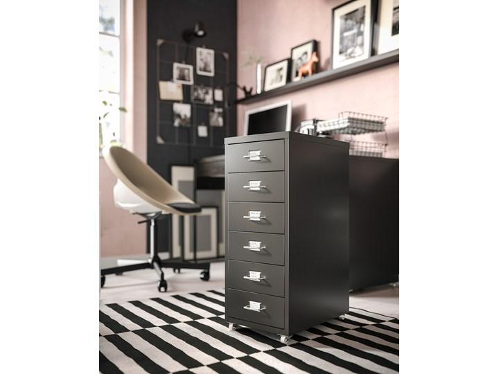 IKEA HELMER Komoda na kółkach, Czarny, 28x69 cm Stal Metal Kategoria Szafki i regały