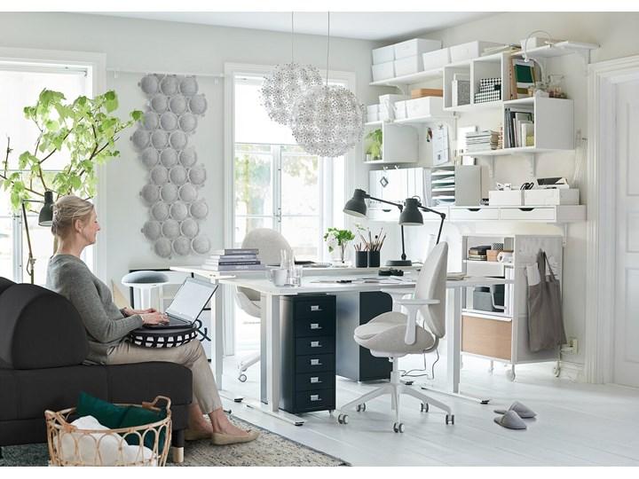 IKEA HELMER Komoda na kółkach, Czarny, 28x69 cm Metal Stal Kategoria Szafki i regały