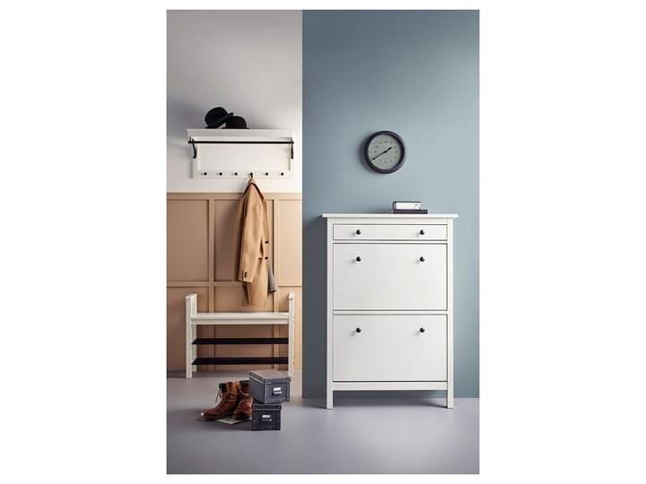IKEA HEMNES Ławka z półkami na buty, biały, 85x32x65 cm Kategoria Szafki i regały