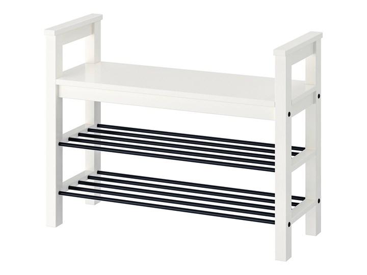 IKEA HEMNES Ławka z półkami na buty, biały, 85x32x65 cm