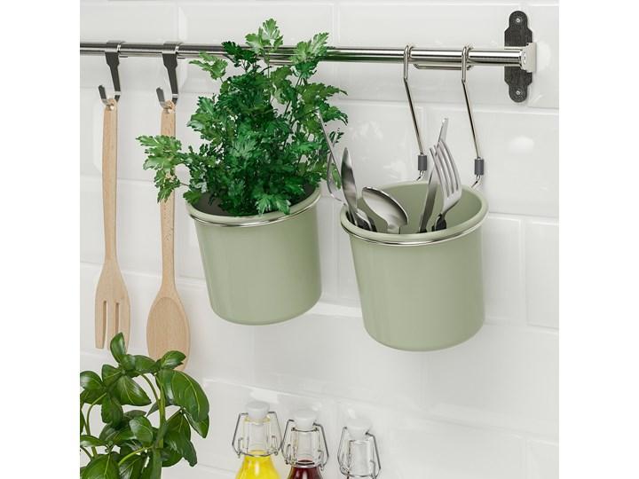 IKEA HULTARP Pojemnik, Zielony/niklowano, 14x16 cm Kategoria Wieszaki kuchenne