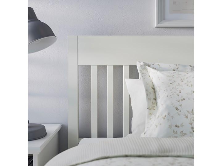 IKEA IDANÄS Rama łóżka, Biały, 140x200 cm Łóżko drewniane Pojemnik na pościel Bez pojemnika