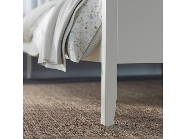 IKEA IDANÄS Rama łóżka, Biały, 140x200 cm Łóżko drewniane Zagłówek Z zagłówkiem Pojemnik na pościel Bez pojemnika