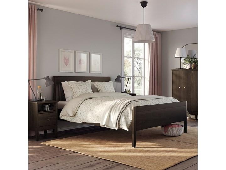 IKEA IDANÄS Rama łóżka, Ciemnobrązowy bejcowane, 160x200 cm Łóżko drewniane Styl Klasyczny Kolor Czarny