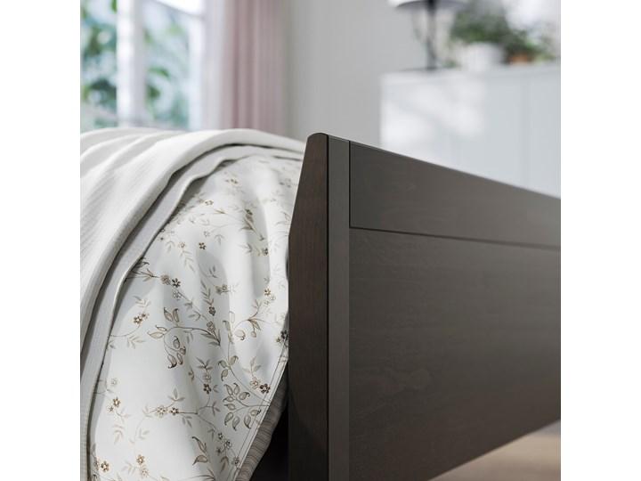 IKEA IDANÄS Rama łóżka, Ciemnobrązowy bejcowane, 160x200 cm Łóżko drewniane Kategoria Łóżka do sypialni