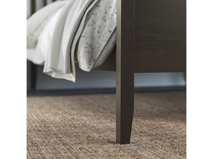 IKEA IDANÄS Rama łóżka, Ciemnobrązowy bejcowane, 160x200 cm Łóżko drewniane Kolor Czarny