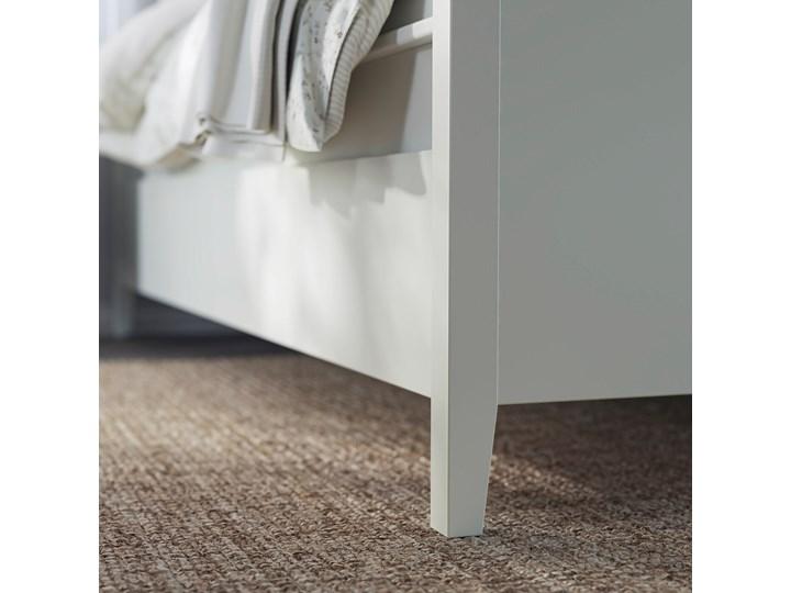 IKEA IDANÄS Rama łóżka z szufladami, Biały, 140x200 cm Kategoria Łóżka do sypialni Łóżko drewniane Pojemnik na pościel Z pojemnikiem