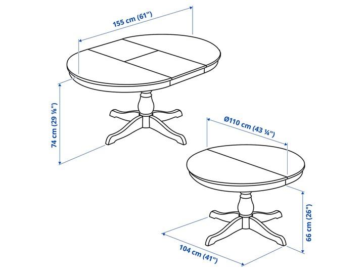 IKEA INGATORP Stół rozkładany, Biały, 110/155 cm Pomieszczenie Stoły do salonu Płyta MDF Styl Prowansalski