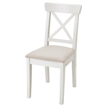 IKEA INGOLF Krzesło, biały/Hallarp beżowy, Przetestowano dla: 110 kg