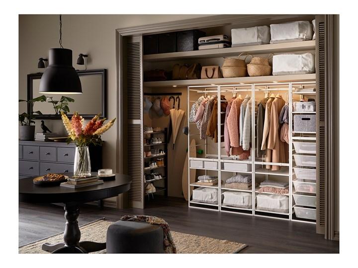 IKEA JONAXEL Kombinacja szafy, biały, 198x51x173 cm Metal Stal Lustro