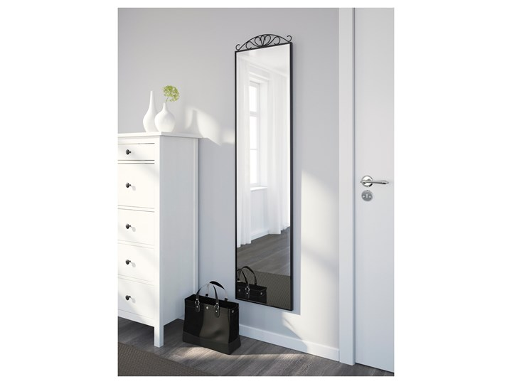 IKEA KARMSUND Lustro stojące, czarny, 40x167 cm Prostokątne Kategoria Lustra