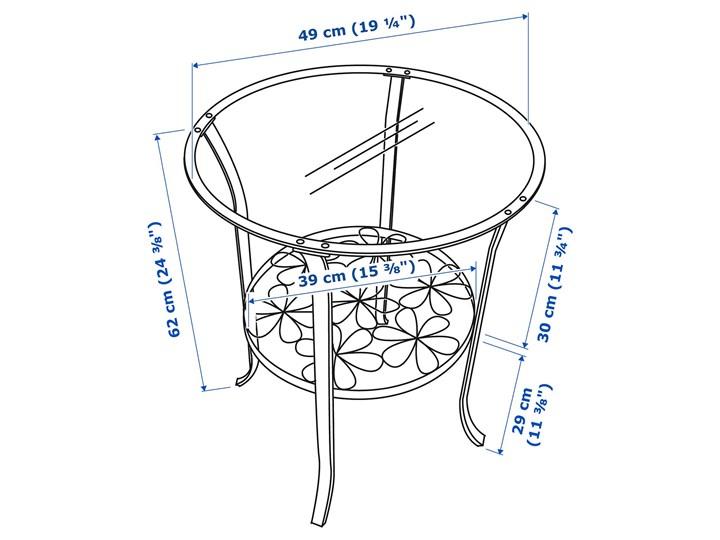 IKEA KLINGSBO Stolik, czarny/szkło bezbarwne, 49x62 cm Kategoria Stoliki i ławy