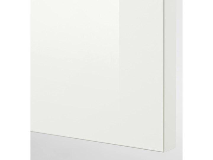 IKEA KNOXHULT Kuchnia narożna, połysk/biały, 243x164x220 cm Kategoria Zestawy mebli kuchennych