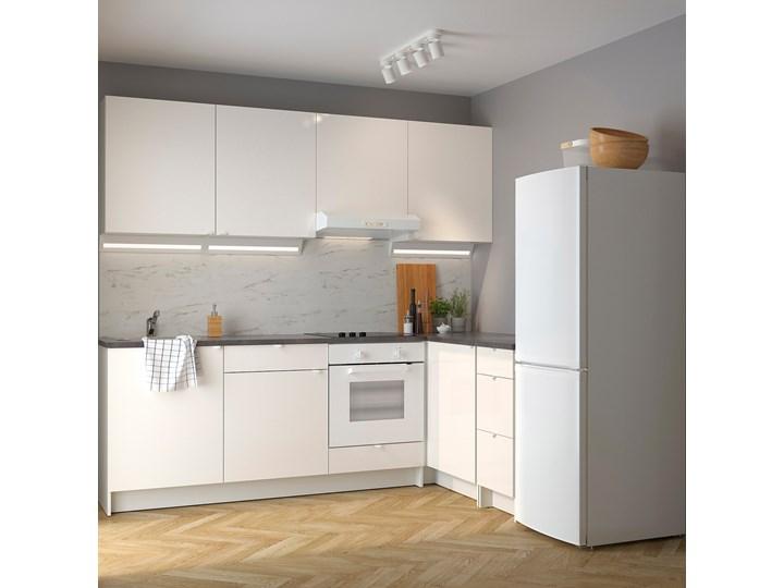 IKEA KNOXHULT Kuchnia narożna, połysk/biały, 243x164x220 cm Kategoria Zestawy mebli kuchennych Kolor Szary