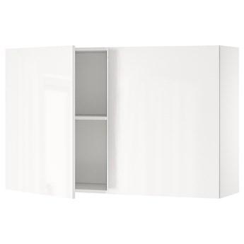 IKEA KNOXHULT Szafka ścienna z drzwiami, połysk biały, 120x75 cm