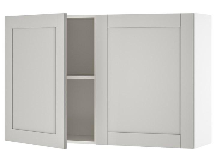 IKEA KNOXHULT Szafka ścienna z drzwiami, szary, 120x75 cm Płyta MDF Szafka wisząca Kategoria Szafki kuchenne