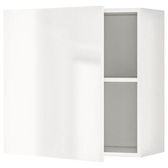 IKEA KNOXHULT Szafka wisząca z drzwiczkami, połysk biały, 60x60 cm