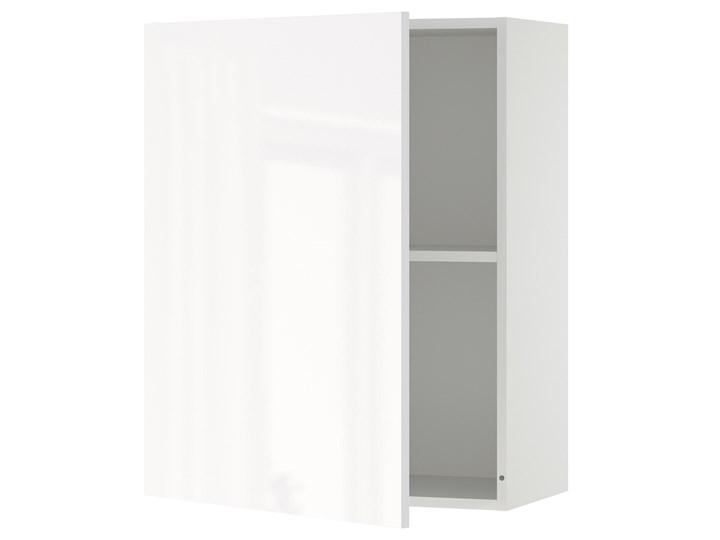 IKEA KNOXHULT Szafka wisząca z drzwiczkami, połysk biały, 60x75 cm Płyta MDF Kategoria Szafki kuchenne