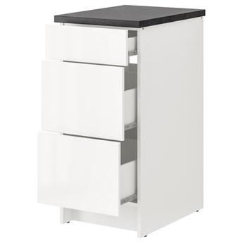 IKEA KNOXHULT Szafka z szufladami, połysk biały, 40 cm
