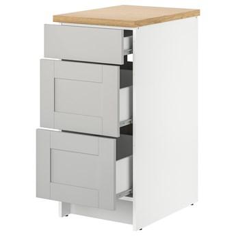 IKEA KNOXHULT Szafka z szufladami, szary, 40 cm