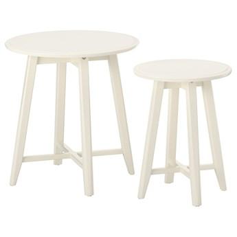 IKEA KRAGSTA Stoliki, 2 szt, Biały