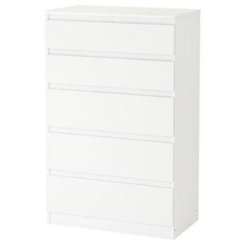 IKEA KULLEN Komoda, 5 szuflad, Biały, 70x112 cm