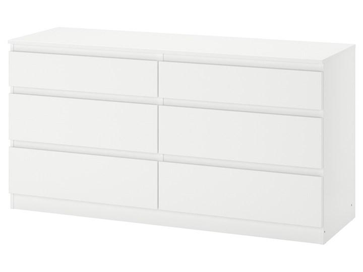 IKEA KULLEN Komoda, 6 szuflad, Biały, 140x72 cm Płyta MDF Szerokość 140 cm Kategoria Komody