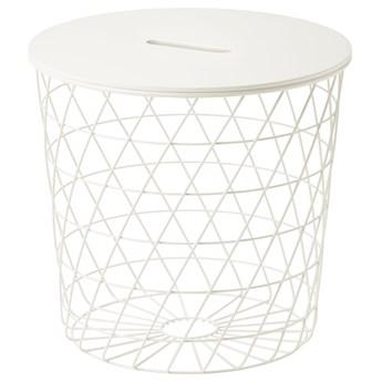 IKEA KVISTBRO Stolik z miejscem do przechowywania, Biały, 44 cm