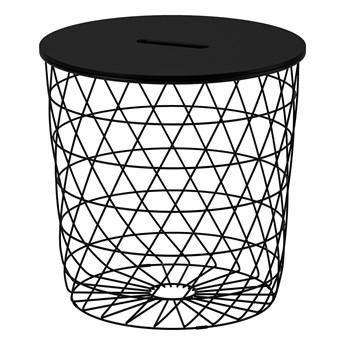 IKEA KVISTBRO Stolik z miejscem do przechowywania, Czarny, 44 cm