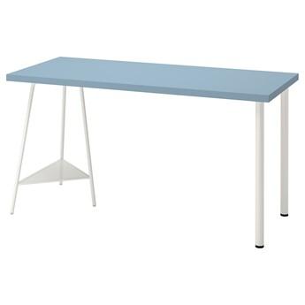 IKEA LAGKAPTEN / TILLSLAG Biurko, Jasnoniebieski/biały, 140x60 cm