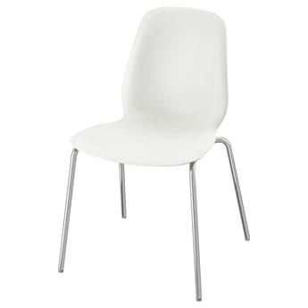 IKEA LEIFARNE Krzesło, biały/Broringe chrom, Przetestowano dla: 110 kg