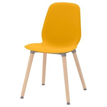 IKEA LEIFARNE Krzesło, ciemnożółty/Ernfrid brzoza, Przetestowano dla: 110 kg