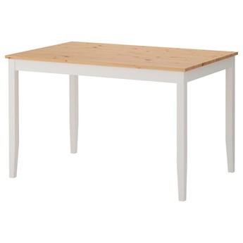 IKEA LERHAMN Stół, Bejca jasna patyna/biała bejca, 118x74 cm