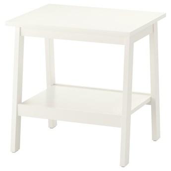 IKEA LUNNARP Stolik, biały, 55x45 cm