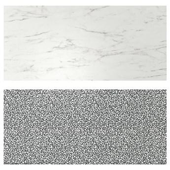 IKEA LYSEKIL Panel ścienny, 2str imitacja białego marmuru/czarny/biały wzór mozaika, 119.6x55 cm