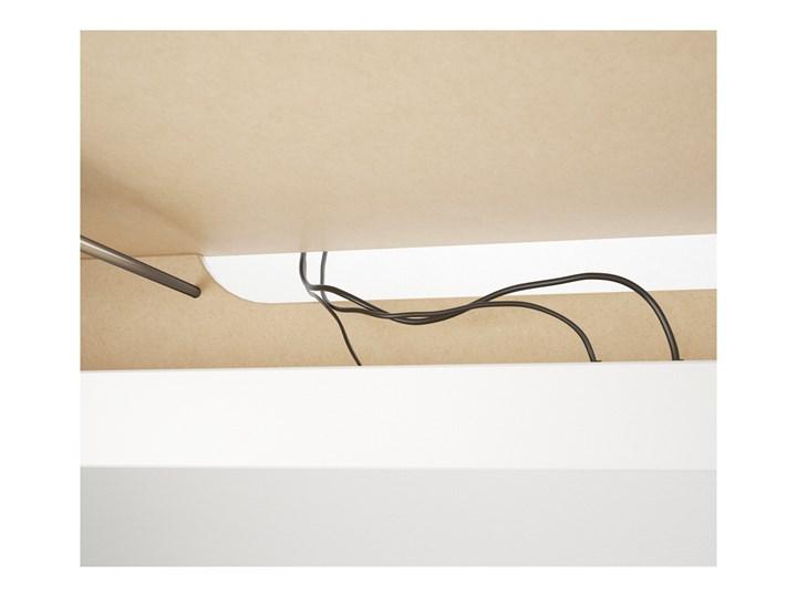 IKEA MALM Biurko z wysuwanym panelem, Biały, 151x65 cm Biurko narożne Płyta MDF Szerokość 151 cm Kategoria Biurka