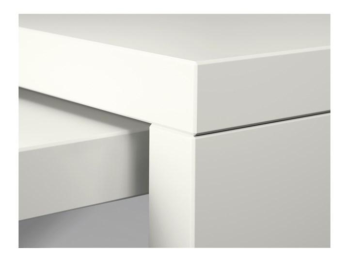 IKEA MALM Biurko z wysuwanym panelem, Biały, 151x65 cm Szerokość 151 cm Kategoria Biurka Płyta MDF Biurko narożne Styl Nowoczesny