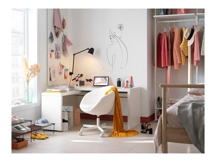 IKEA MALM Biurko z wysuwanym panelem, Biały, 151x65 cm Płyta MDF Biurko narożne Szerokość 151 cm Kategoria Biurka