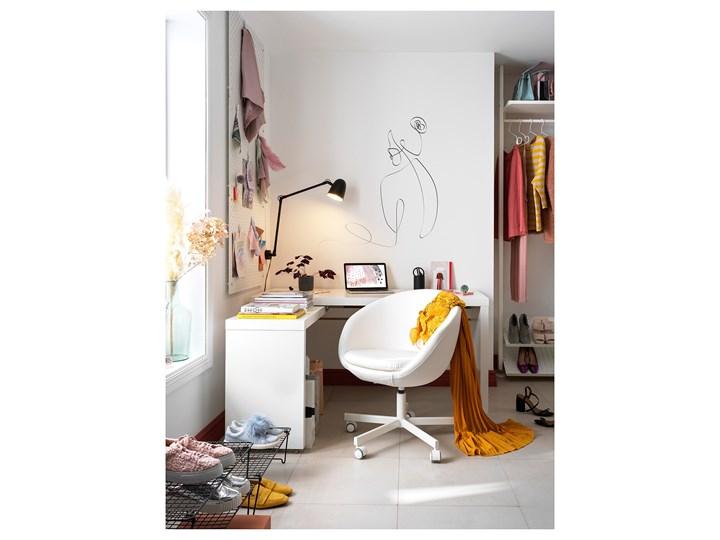 IKEA MALM Biurko z wysuwanym panelem, Biały, 151x65 cm Kategoria Biurka Szerokość 151 cm Biurko narożne Płyta MDF Styl Nowoczesny