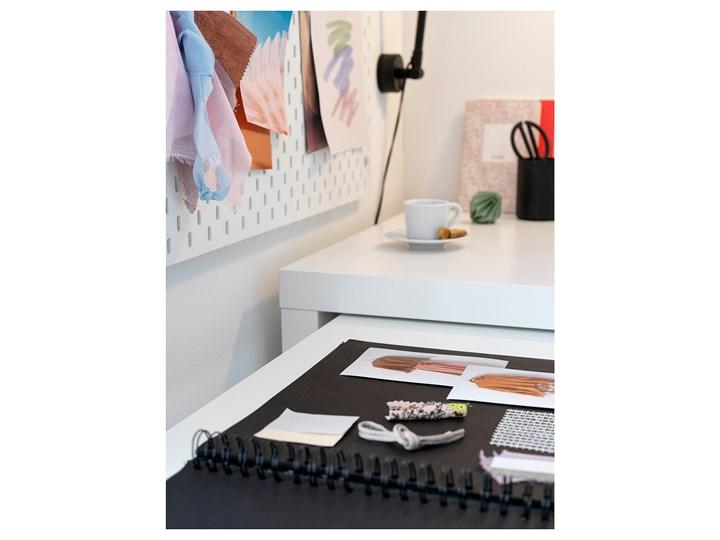 IKEA MALM Biurko z wysuwanym panelem, Biały, 151x65 cm Szerokość 151 cm Płyta MDF Biurko narożne Kategoria Biurka