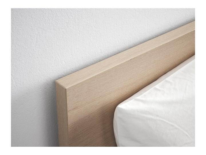 IKEA MALM Rama łóżka, wysoka, Okleina dębowa bejcowana na biało, 140x200 cm Drewno Łóżko drewniane Kolor Biały Kategoria Łóżka do sypialni
